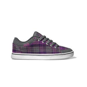 Vans Skyla Womens Shoes Plaid Grey Purple Trainers