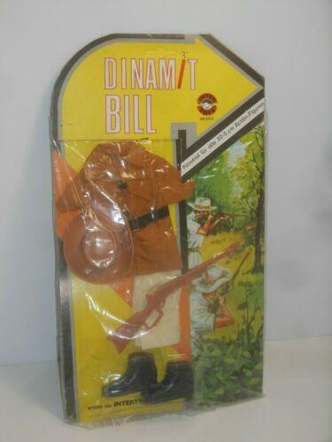 "Dinamite Bill Action Set 8 pour Big jim//Madelman personnages /""Safari/"" INTER Toys"