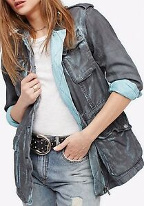 Free-People-Double-Cloth-Military-Jacket-Cargo-Army-Green-Blue-Pink-OB610284