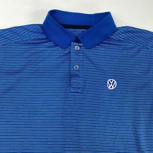 Callaway Volkswagen Golf Polo Shirt Men's Medium Short Sleeve Blue White