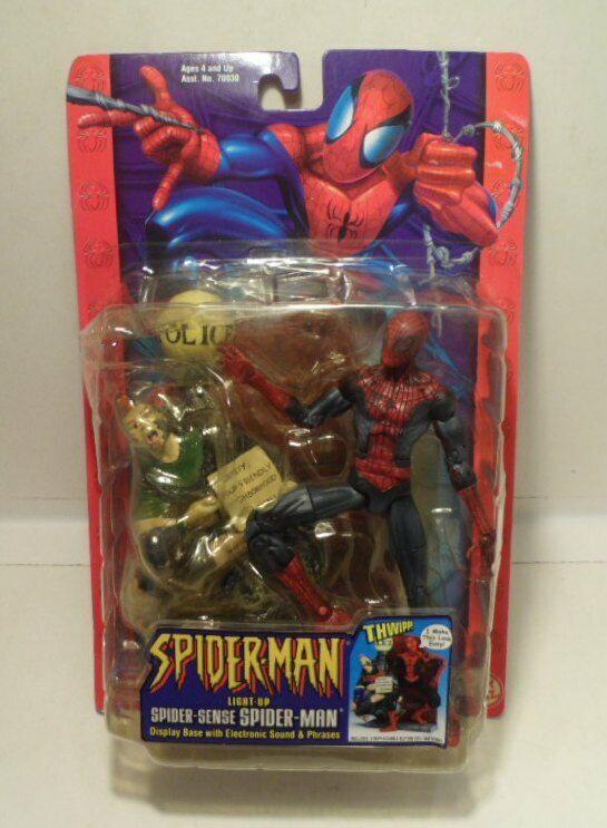 Spiderman Figure  Light Up Spider Sense Spiderman   - ToyBiz 2002 - NEW, sealed