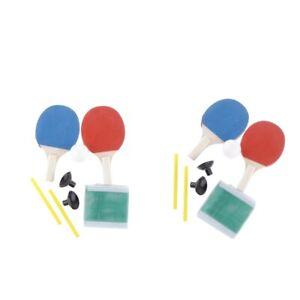 2 Paire Portable Mini Raquettes ballnetz Durable Indoor Training