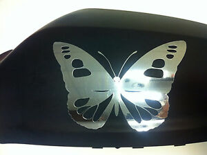 NEW-Butterfly-Wing-Mirror-Car-Stickers-Decorations-Silver-Chrome-Butterflies