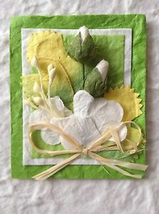 2-Flower-Topper-embellishment-Spring-Green-All-Occasion-Card-Easter-wedding