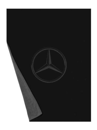 Genuine Mercedes-Benz Grigio  NERO BIADESIVO IN PILE COPERTA B67871618 NUOVO CON SCATOLA