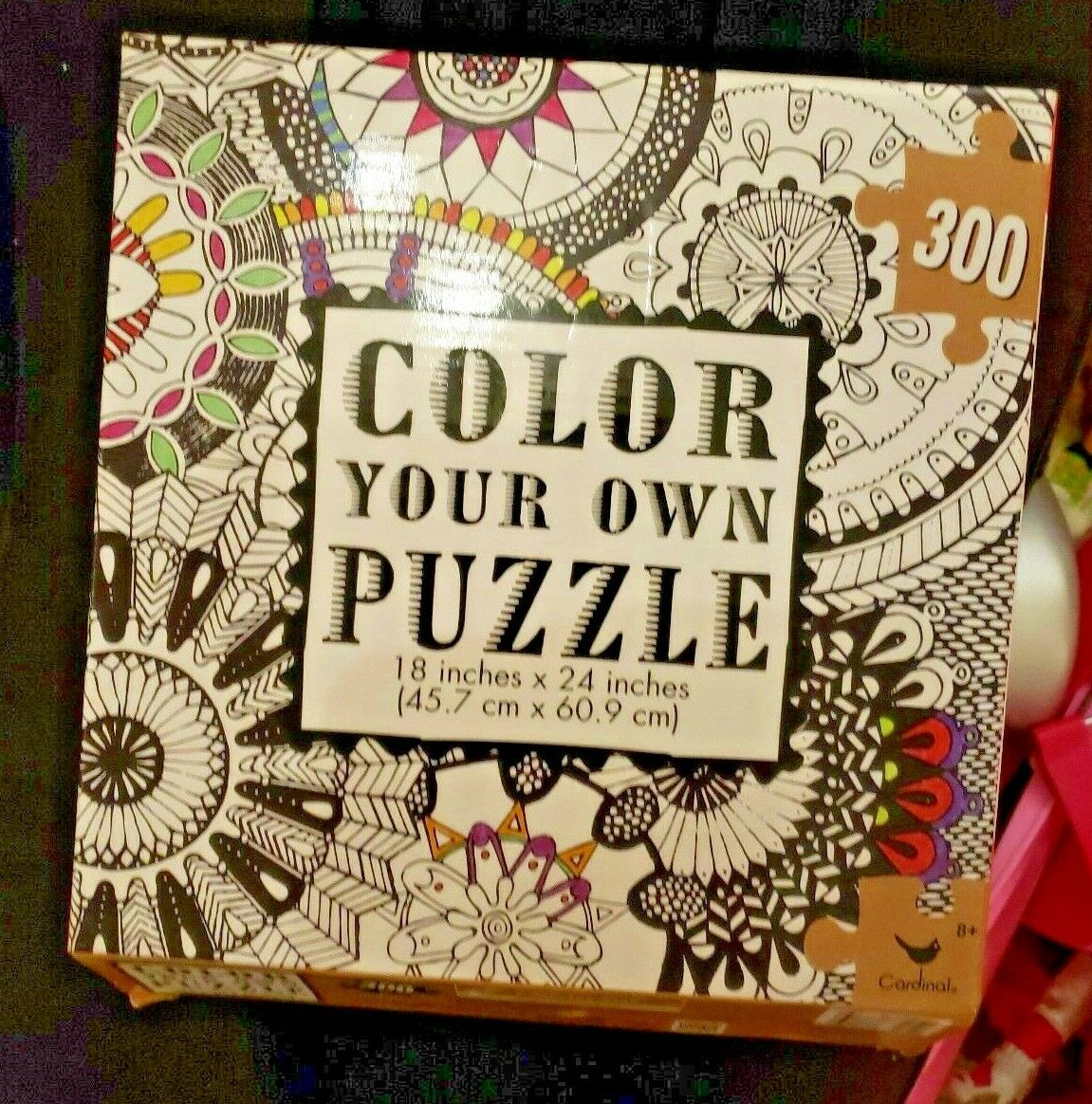 - Cardinal Color Your Own Puzzle 300 PC Jigsaw Puzzle Adult Coloring
