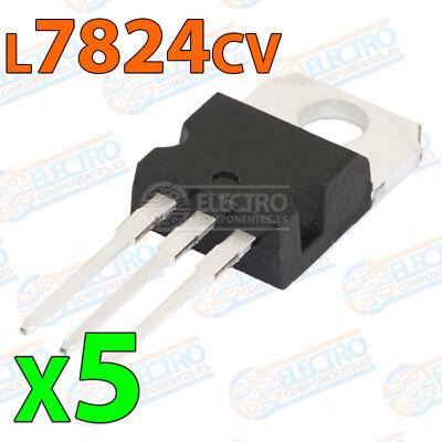 24V regulador de voltaje 1.5A St 5 X L7824CV