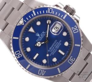Rolex-Men-Submariner-Blue-116610-w-Date-40mm-Watch-Stainless-Steel-Ceramic-Bezel