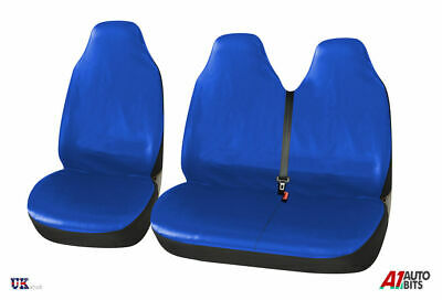 Heavy Duty Blue Waterproof Seat Covers 2 x Fronts Iveco Daily