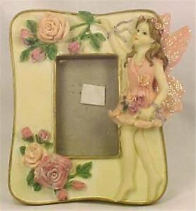 Ballerina-Pink-Fairy-amp-Roses-Picture-Frame-Little-Girl-Adorable