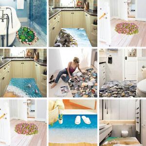 3d View Beach Floor Decor Bathroom Wall Sticker Mural Decal Art