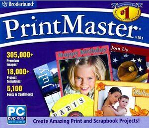Printmaster 18.1 Platinum-desktop Publishing Imprimer Projet Edit Logiciel-nouveau!-afficher Le Titre D'origine