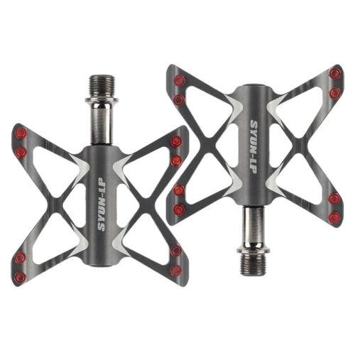 MTB Road Bike Pedals 3 Bearings Aluminum Alloy Platform Bicycle Pedal