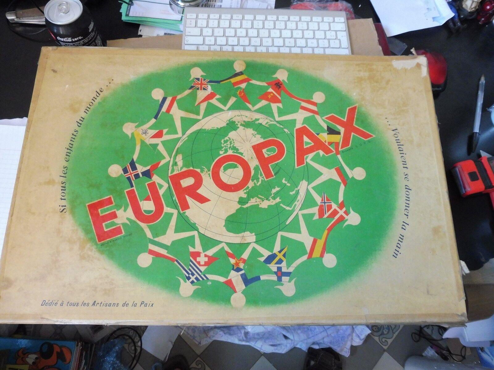 Europax Si tous les enfants du monde... jeu ancien 1957