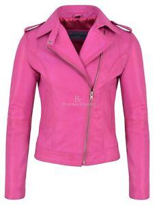 motorista de oveja estilo rock de fucsia Brando chaqueta cuero mujer piel de estilo de nRAx6ZCwq