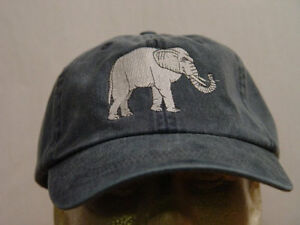 Elephant Head Embroidery Embroidered Adjustable Hat Baseball Cap