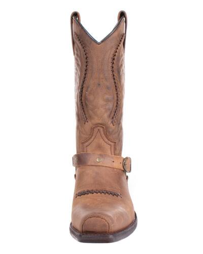 Sendra Boots Leder Cowboy Stiefel 3434 Mad Dog Tang Unisex Braun