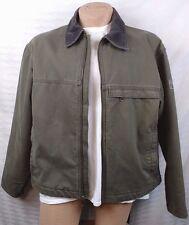 SOREL Men's SZ L Gray Working Mans Jacket Barn Coat Fleece Lined Corduroy Canvas
