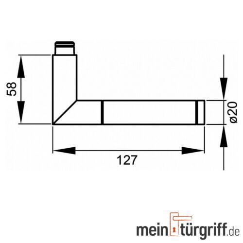 Karcher Türdrücker Rio Steel BB ER34 Edelstahl matt//poliert Türgriff Griff