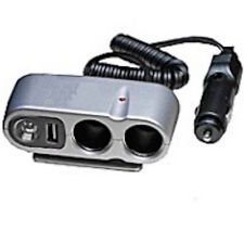 Car Cigarette Lighter Multi Socket with USB and LED Light Great Power Extender