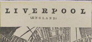 Vintage-1900-LIVERPOOL-ENGLAND-Map-14-034-x11-034-Old-Antique-Original-BEATLES-LENNON