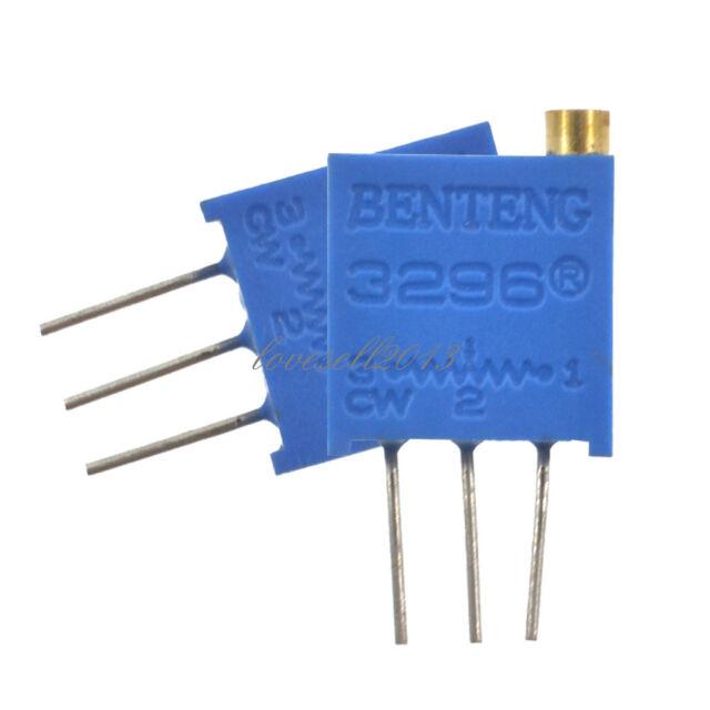 100 pcs 3296W-103 3296 W 10K ohm Trim Pot Trimmer Potentiometer NEW