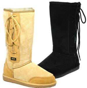 Originals-Ugg-Australia-LaceUp-Long-Snow-Boot-Chestnut-Black-6-8-10-12-Men-Women