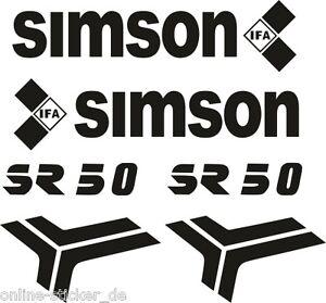 Details Zu Aufklebersatz Schriftzug Simson Sr50 Roller Ddr Tankaufkleber Aufkleber An1634