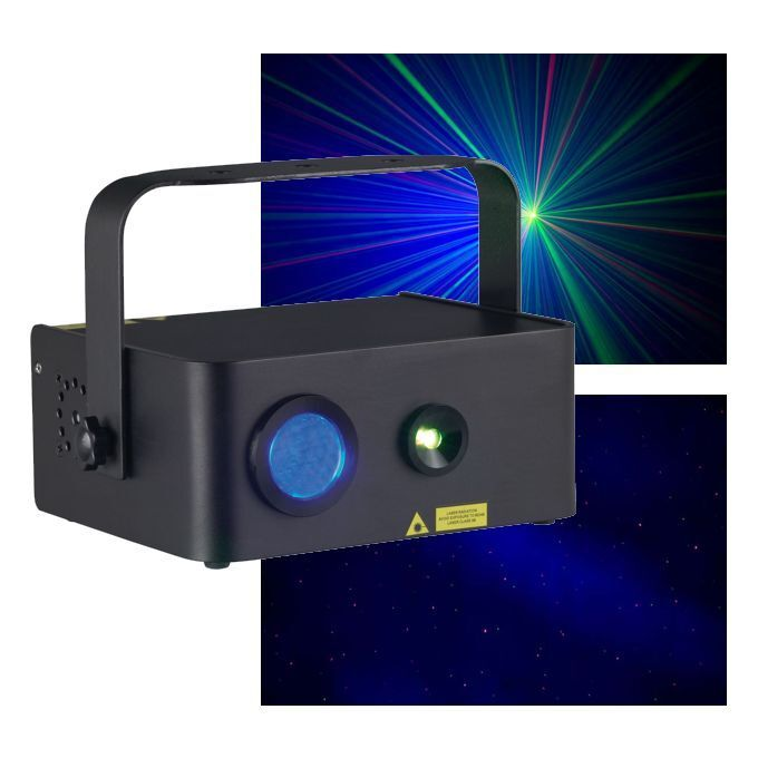 LASER GALACTOR LED 110MW BI-color red&green + 1 LED blueE 5W JEU LUMIERE