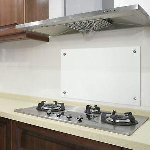 Dettagli su [neu.haus]® Pannello paraschizzi di vetro 90x40cm paraschizzi  cucina fornello