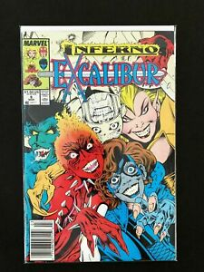 EXCALIBUR-6-MARVEL-COMICS-1989-VF-NEWSSTAND-EDITION