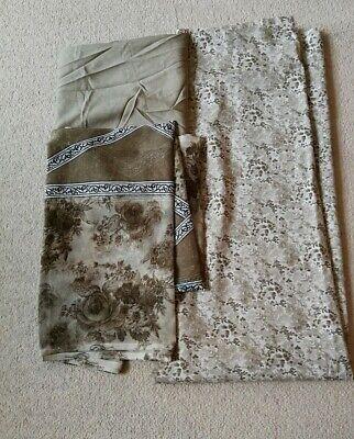 3 Pezzi Separati Francese Crepe Indiano Pakistano Salwar Kameez Suit-mostra Il Titolo Originale