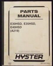 Hyster Electric E30hsd E35hsd E40hsd Forklift Parts Manual Unit Code A219