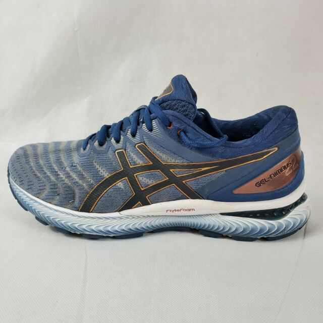 Asics Gel-Nimbus 22 Mens Sz 10.5 Glacier Grey Graphite Grey Men's Running Shoes