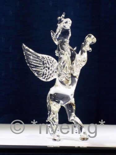 PEGASUS CRYSTAL Glass Figurine@MYTHICAL BEAST@WINGED FANTASY Gift@HAND MADE ITEM