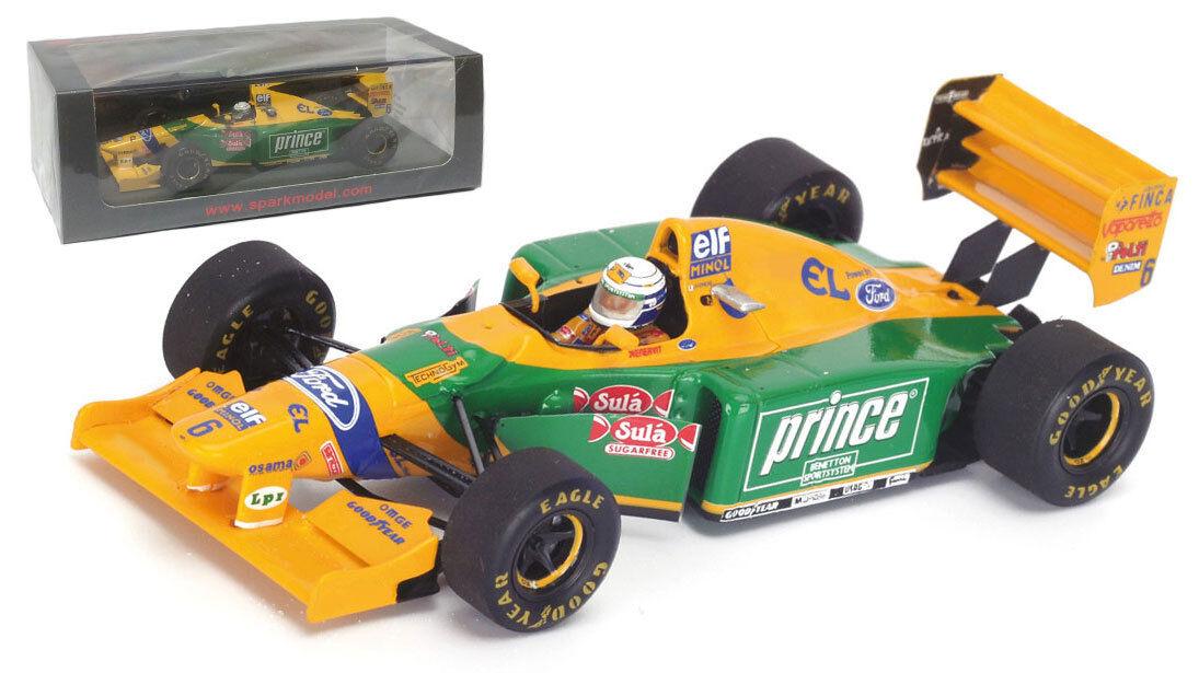 SPARK s4773 BENETTON b193b  6 GP di Monaco 1993-Riccardo Patrese ha SCALA 1/43