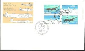 Canada  # 873 - 874 URpb    MILITARY AIRCRAFT  Brand New 1980 Unaddressed Issue