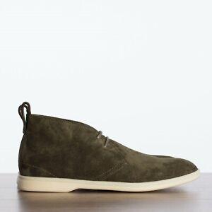LORO-PIANA-1075-Softey-Walk-Ankle-Boots-In-Khaki-Green-Levriero-Suede
