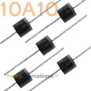 10x-10A10-1000V-1KV-10A-RECTIFIER-DIODES-GUARD-JUNCTION-Axial