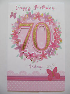 Image Is Loading BEAUTIFUL GLITTER COATED FLOWERS 70 TODAY 70TH BIRTHDAY