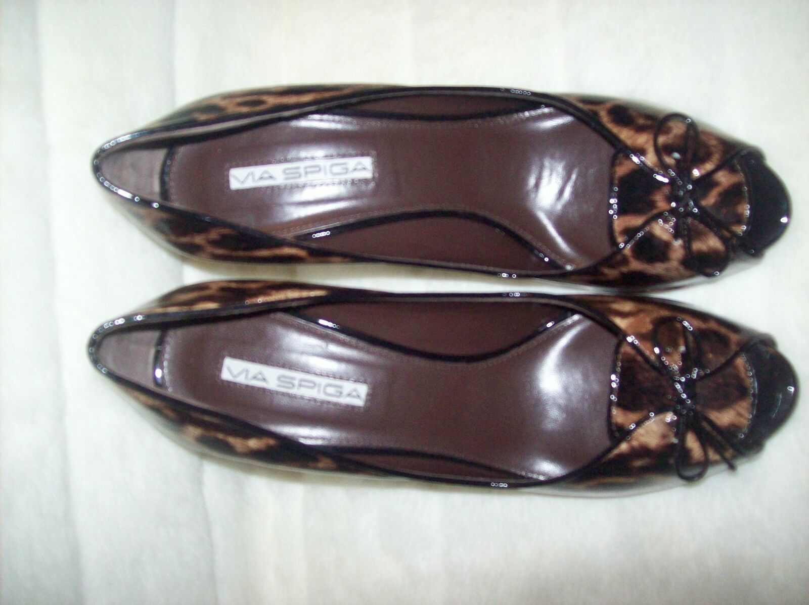 VIA ANIMAL SPIGA  PATENT LEATHER ANIMAL VIA PRINT Pumps Schuhe SZ 8.5 290 new 28175b