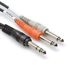 Hosa STP-202 2M Insert Cable 1/4 in TRS to Dual 1/4 in TS Free shipping in USA!