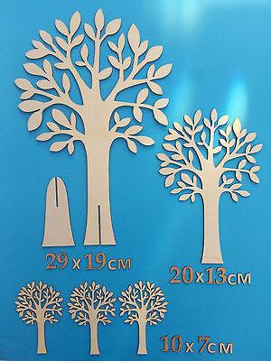 WOODEN Shapes Trees Dinosaurs Birds Animals Xmas Etc LASER CUT 10/20/30cmTall