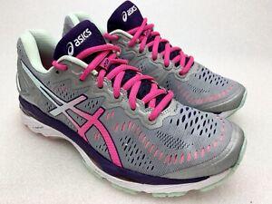 Asics-Womens-Gel-Kayano-23-Silver-Pink-Running-Shoes-Sneakers-Sz-7-5-M-T696N