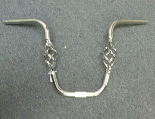 "NEW BIRD CAGE  HANDLE BARS 13/""  CHROME BICYCLE LOWRIDER 1/"""