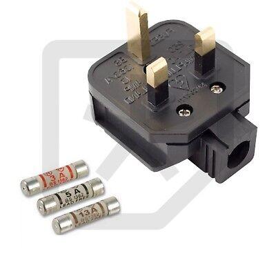 NEW WHITE Permaplug 13 Amp 230V UK 3 Pin Heavy Duty Rubber Body Rewirable Plug