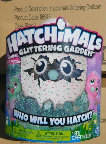 boîte scellée Hatchimals paillettes owlicorn Scintillant Jardin /& BONUS Crystal Nid
