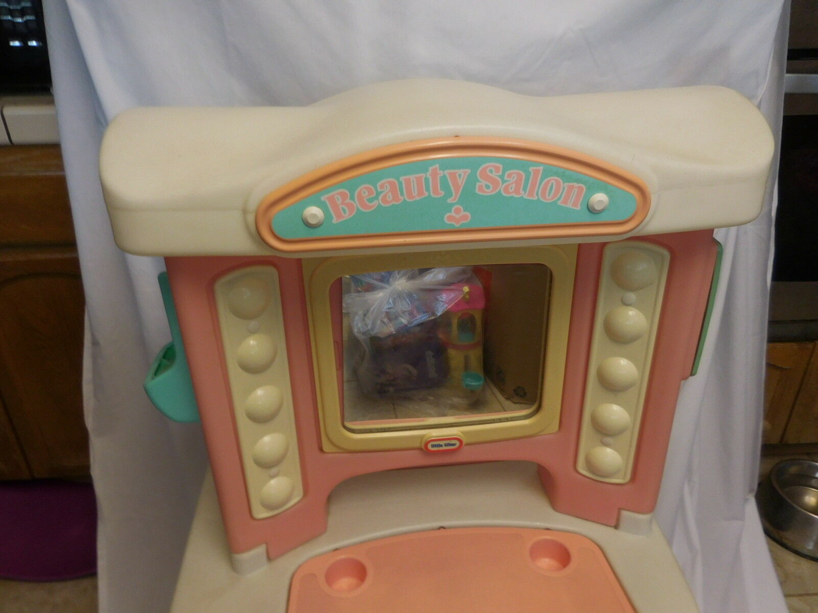 Little Tikes Beauty Salon Vanity Makeup Play Set Sink Hair Hair Hair Mirror Vintage 05d663