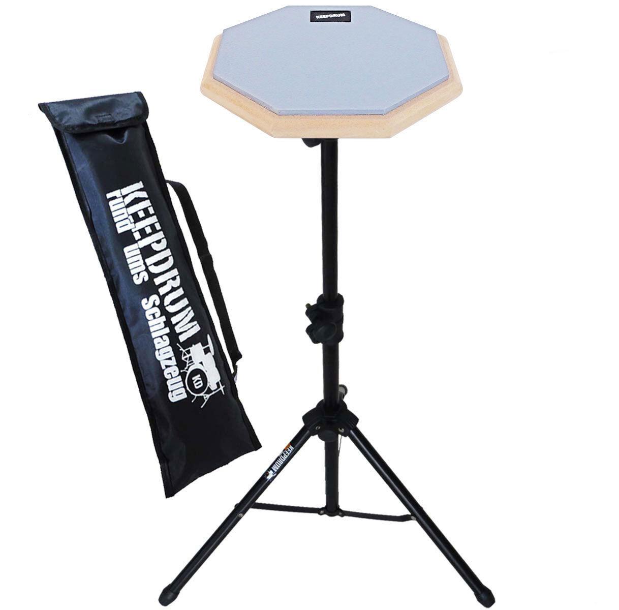 keepdrum  DP-BL SET Practice Pad mit DPS Übungspadständer und Tasche