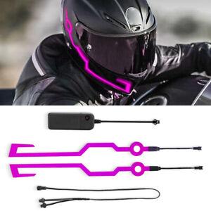 Motorcycle Helmet Night Riding LED Light Signal Flashing Stripe Sticker 3 Modes